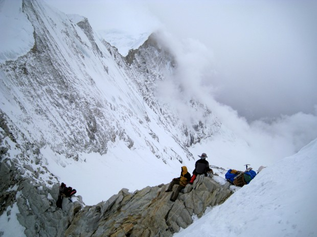 Trekking in West Col, Nepal