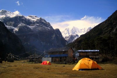 Camp at Yangri Kharka, Nepal at 3600 metres