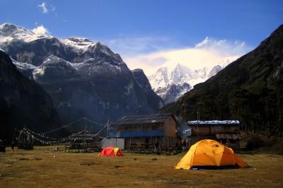 Camp at Yangri Kharka, Nepal at 3600 metres