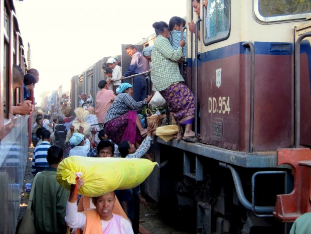 Tandem trains on the road to Myitkyina