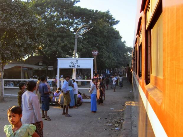 Shwe Bo station on the way to Myitkyina in Northern Myanmar
