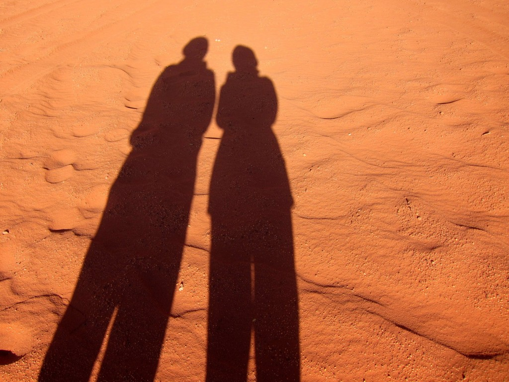 Me and Shannon O'Donnell in Wadi Rum