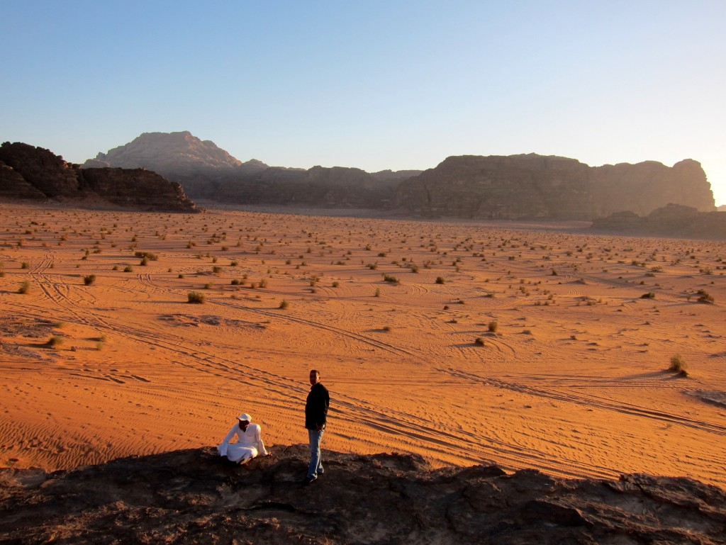 A sense of scale at Wadi Rum, Jordan