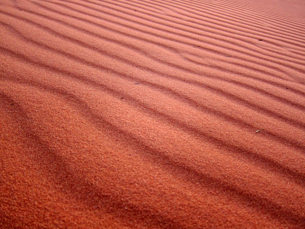 Sand, glorious sand in the Jordanian desert at Wadi Rum