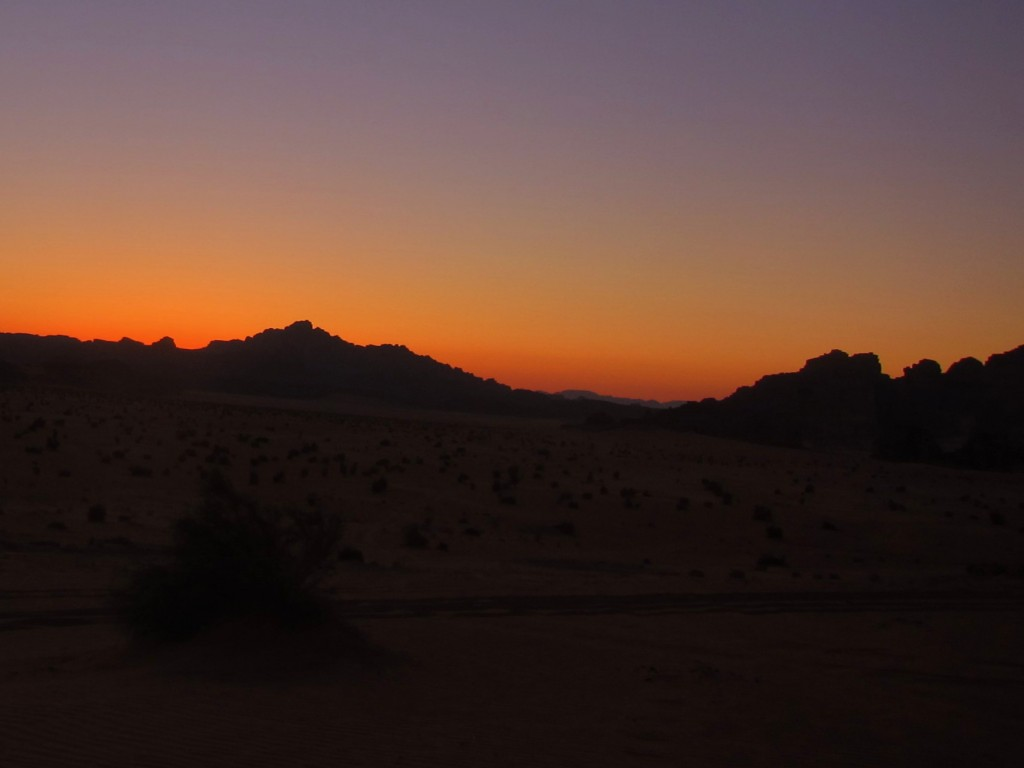 Nightfall in Wadi Rum, Jordan