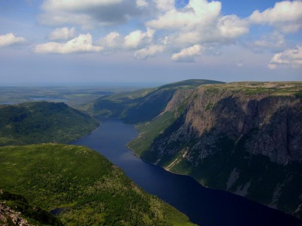 Fjords in Gros Morne National Park, Newfoundland
