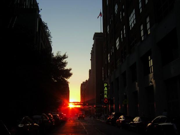 New York Manhattanhenge 2011