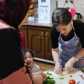 Cooking in Rasun, Jordan