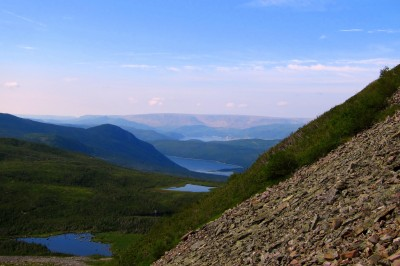 Scree slopes on Gros Morne
