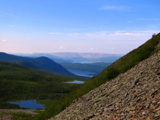 Scree slopes on Gros Morne