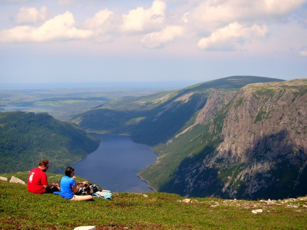 Picnic atop Gros Morne in Newfoundland