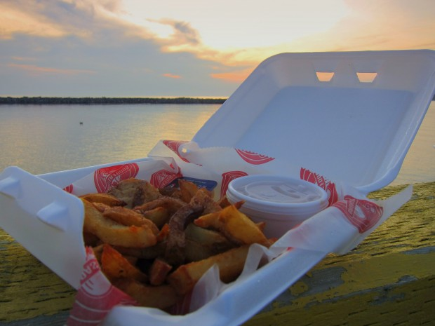 Earle's fish & chips at the ocean's edge, Rocky Harbour