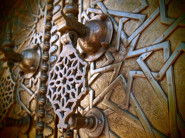 Doorknob on the Palace doors in Fez, Morocco