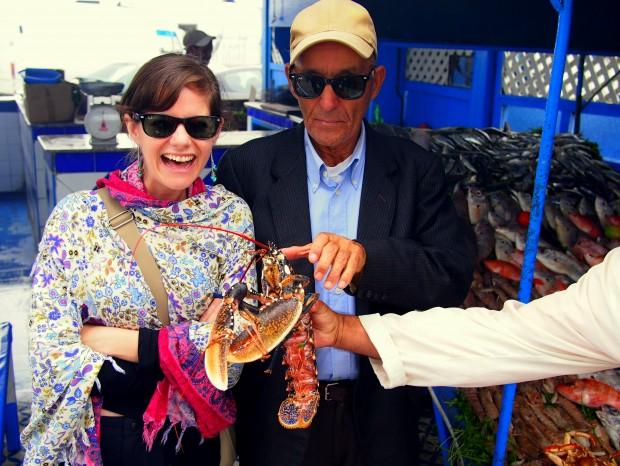 Fresh lobster in Essaouira, Morocco