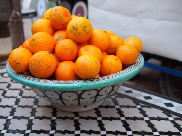 Fresh orange juice in Essaouira