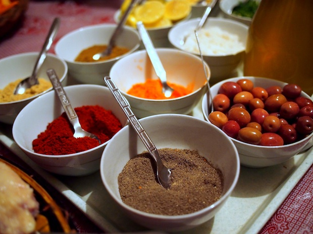 ingredients for tagine in Morocco