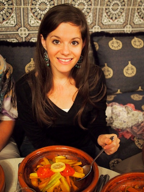 Me with my tagine after the cooking class