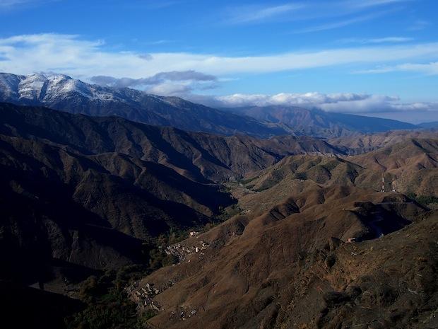 Atlas mountains in the sun, Morocco
