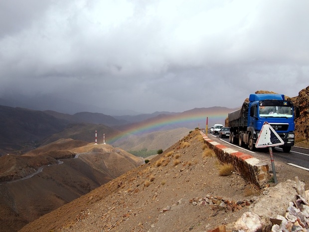Driving in Morocco: Trucks, cars and goats on the drive through the High Atlas mountains