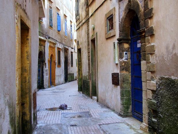 Quiet back alleys of Essaouira