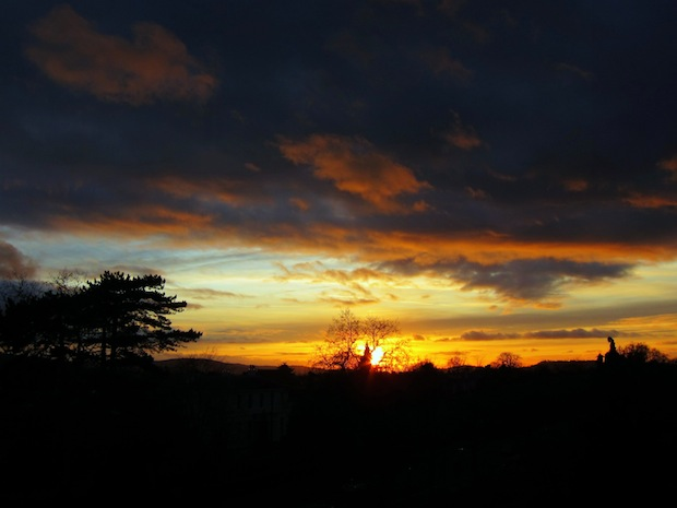 Sunset in the Cotswolds