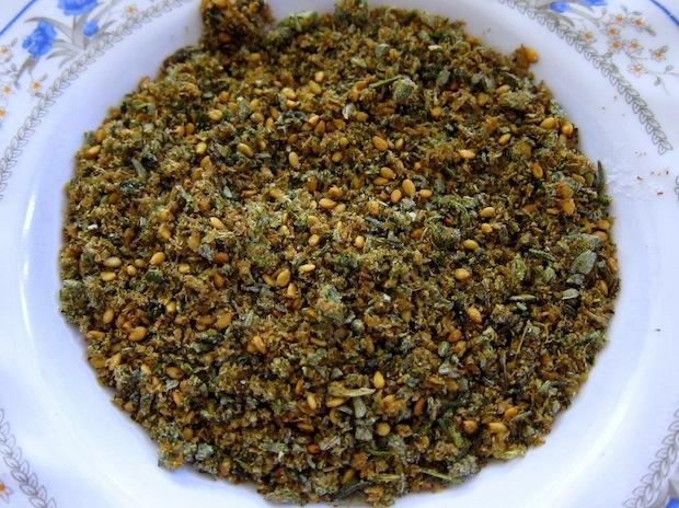 Table condiments in Jordan: Za'atar