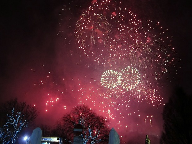New Year's Eve fireworks for Hogmanay