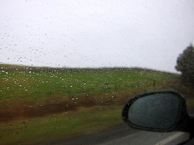 Rainy drive to Scotland