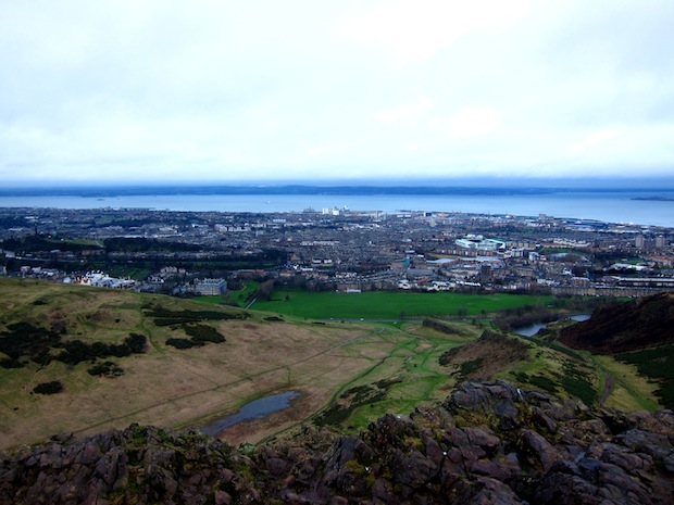 View from atop Arthur's Seat, Edinburgh
