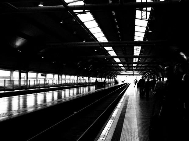 Fiumicino train station, on my way to Orvieto