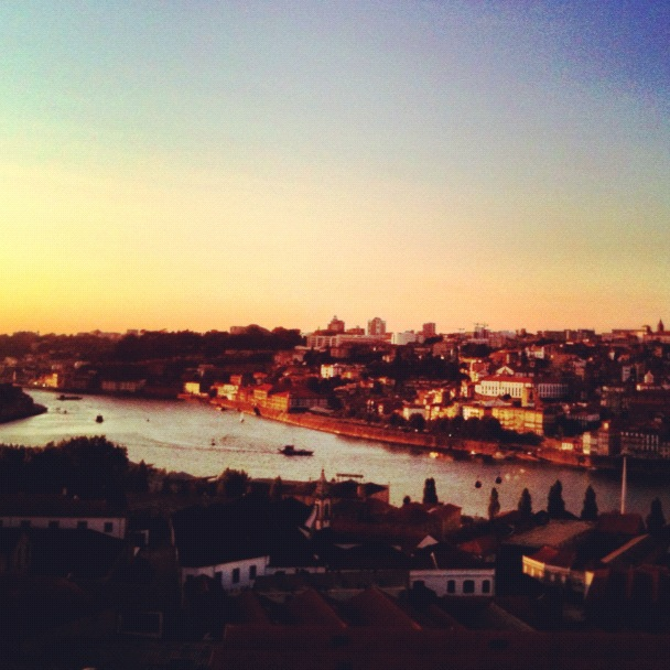 Porto at dusk before the Douro Valley road trip