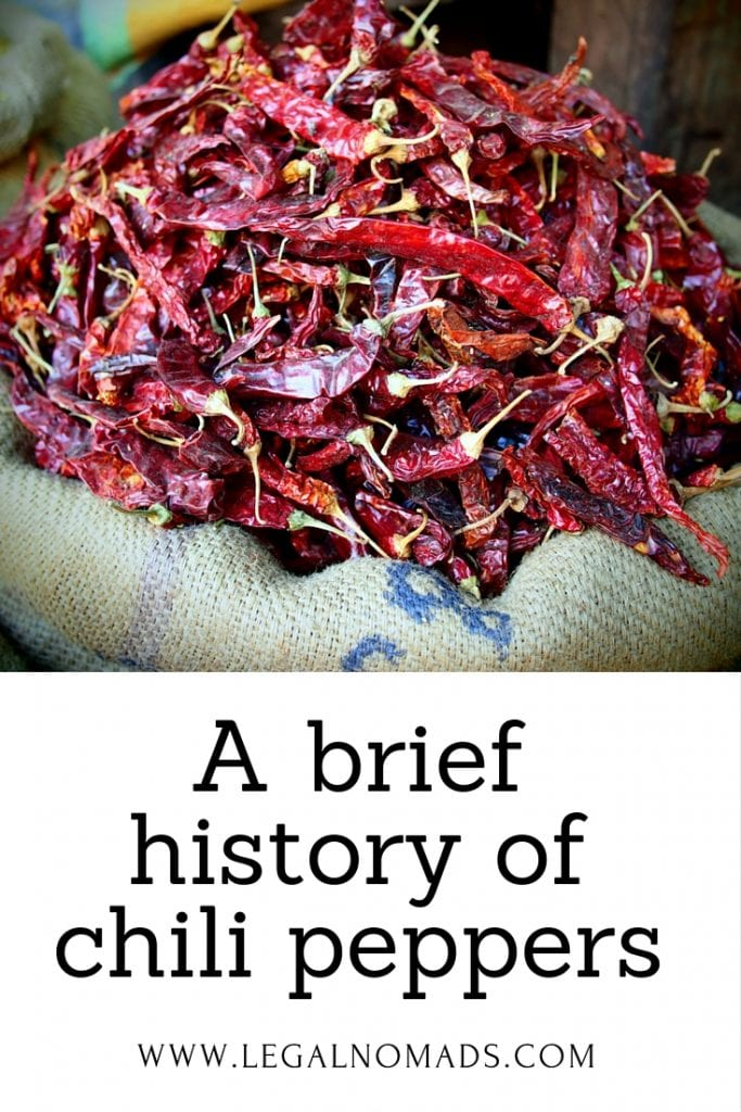 history of chili peppers